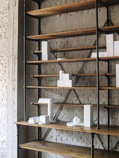 Axel Vervoordt - Kanaal - Cereal  #interior #wood #bookshelves