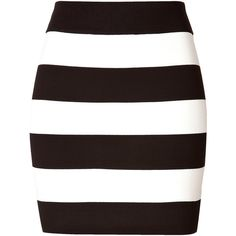 THEORY Striped Skirt (1,695 GTQ) ❤ liked on Polyvore featuring skirts, bottoms, saias, faldas, stripe skirt, black white skirt, striped skirts, black white striped skirt and theory skirt