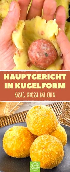 Potatoes stuffed with cheese and mince-Mit Käse und Hack gefüllte Kartoffeln Main course in spherical form. Potatoes stuffed with cheese and mince. Bacon Wrapped Meatloaf, Bon Ap, Diets For Beginners, Meal Planning, Catering, Brunch, Food And Drink, Vegetarian, Snacks