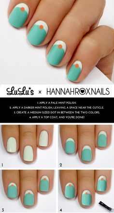 Reverse manicure with dots | 24 Ways To Get Your Nails Ready For The Spring...These are cute & quirky. :)