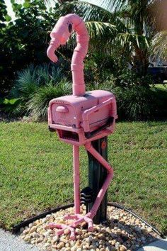 PINK FLAMINGO, MAIL BOX