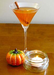 pumpkin spice martinis, yum!