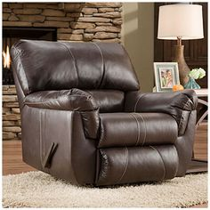 Kick back & relax with this Simmons® Bucaneer Cocoa Rocker Recliner at #BigLots!