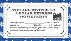 the polar express movie party tickets - Bing images Polar Express Pajamas, Polar Express Tickets, Polar Express Theme, Polar Express Movie, Polar Express Train, Preschool Christmas, Christmas Fun, Holiday Fun, Holiday Ideas