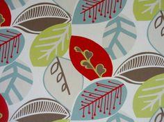 Clarke & Clarke Scandia Malena F0329/04 Rouge cotton curtain fabric