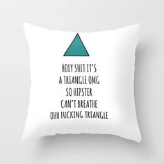 Triangle Hipster Pillow Case by Swallowthesun on Etsy, €20.00