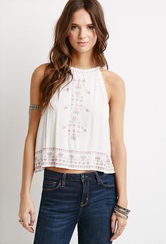 Tribal Pattern Embroidered Cami | FOREVER21 | #thespringcollection