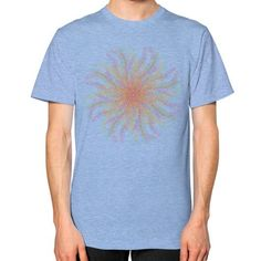 Colorful abstract yoga mandala Unisex T-Shirt (on man)