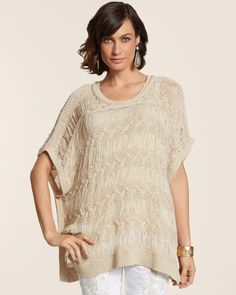 03ec189df2 Carmen Peri Poncho Chambray, Sewing, Neutral, Crochet Ideas, Lace Tops,  Middle