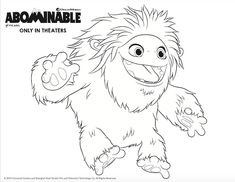Abominable in Plus Printables and Everest Donuts Coloring Sheets, Coloring Pages, Colored Sugar, Colorful Cakes, Niece And Nephew, Child Life, Chinese Culture, Writing Ideas, Line Drawing