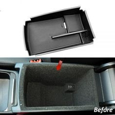 Astra Depot Car Center Console Armrest Secondary Storage Glove Box for 2013-2016 Ford Escape Kuga