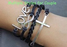 Bracelet cross jewlery love jewlery Infinity love by ModernLeisure, $5.99