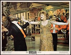 Any BARBRA STREISAND fans and/or collectors? Here are some of her posters and lobby cards I have!  HELLO DOLLY -1969- orig 11x14 Lobby Card #6 -  BARBRA STREISAND, LOUIS ARMSTRONG