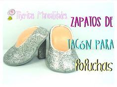 DIY - Zapatos de tacón para fofuchas - #TijeritasManualidades - YouTube