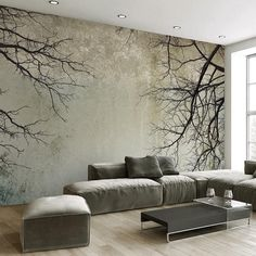 Cheap mural wallpaper Buy Quality photo wallpaper directly from China mural wallpaper Suppliers: Custom Photo Wallpaper Creative Abstract Home Decor Nordic Style Tree Branches Sky Papel De Parede Desktop Mural Wallpaper Custom Wallpaper, Photo Wallpaper, Wall Wallpaper, 3d Wallpaper For Living Room, Wallpaper Designs For Walls, Office Wallpaper, Painting Wallpaper, 3d Living Room, Living Room Murals