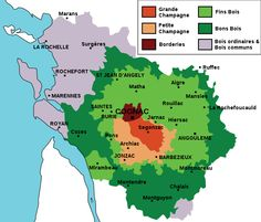 Map of Cognac Regions