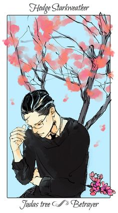 The haunted older generation of TMI, Hodge with a Judas tree, The language of flowers (picked by C.Clare, art by C.Jean)