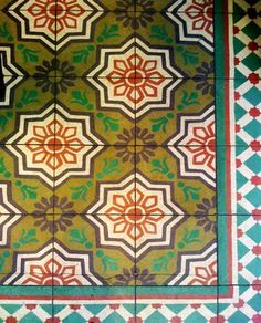 Patterened tiles