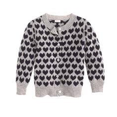 J.Crew - Collection cashmere baby cardigan in heart stack