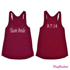 Customized TEAM BRIDE Tank Top with Personalized Date bridesmaid shirt bride gift team bride maid of honor future mrs mother of the bride on Etsy, $25.00