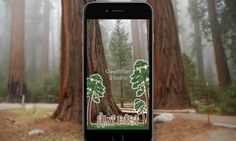 Custom Snapchat geofilter for Giant Forest in Sequoia National Park.