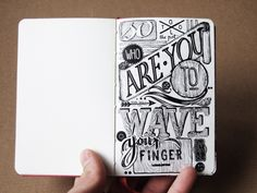 text based sketchbook page // hand lettering in/on my sketchbooks by János Kőrös, via Behance