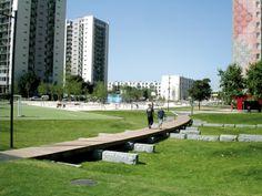Les parcs de la cité de la Saussaie   Composante Urbaine