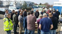 Workshop about cutting, handling and applications of #Coverlam carried out by our German customer #Croonen.