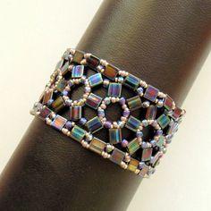 Bracelet tutorial wide cuff pattern bracelet pattern Tila