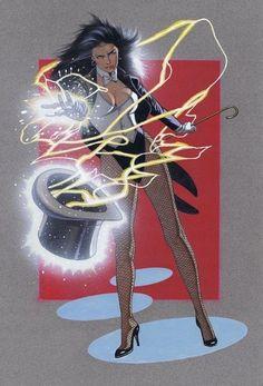 Zatanna (Zatanna Zatara) is a fictional character, a super-heroine in the DC Com. - Zatanna (Zatanna Zatara) is a fictional character, a super-heroine in the DC Comics universe. Dc Comics Characters, Dc Comics Art, Comics Girls, Marvel Dc Comics, Batman, Comic Books Art, Comic Art, Book Art, Zatanna Dc Comics