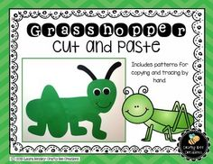 $ Grasshopper Cut and PasteThis is a grasshopper cut and paste project.   It includes all the necessary templates for xeroxing. Just copy onto construction paper! Each download PDF includes:1. A photograph of the project2. Directions3. Patterns that can be copied directly onto colored construction paper and then cut out by students.4.
