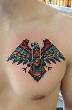 Native American inspired eagle by Kris Maron Artisan Tattoo Pittsburgh PA Japanese tattoo sleeve Native American Tattoos, Native Tattoos, Eagle Tattoos, Arrow Tattoos, Trendy Tattoos, New Tattoos, Cool Tattoos, Tatuagem Haida, Artisan Tattoo