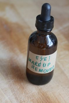 Homemade Organic Eye Makeup Remover.  Super simple just 2 ingredients.  Great for the delicate skin around the eyes.