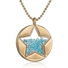 "Betsey Johnson ""Confetti"" Shaky Faceted Stone Star Round Long Pendant... (2,585 INR) ❤ liked on Polyvore featuring jewelry, necklaces, star pendant necklace, gold tone necklace, long necklace pendant, round pendant and betsey johnson necklace"