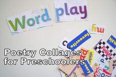 Super idea for kids literacy: poetry collages