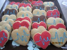 ECG Heart Cookies