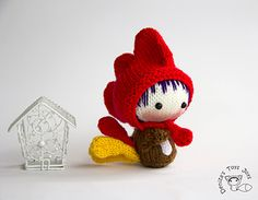 Small Rooster Doll. Easter Doll. Tanoshi series toy.