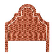 Ally Headboard with Brass Nailheads - Ballard Designs - as shown, $751