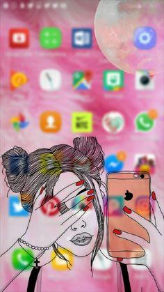 Lind o 😍 Disney Phone Wallpaper, Phone Screen Wallpaper, Pink Wallpaper Iphone, Emoji Wallpaper, Pink Iphone, Cute Wallpaper Backgrounds, Tumblr Wallpaper, Computer Wallpaper, Cute Cartoon Wallpapers