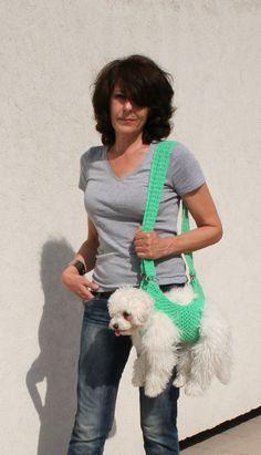 Pet carrier / Crochet dog carrier / BubaDog pet by BubaDog on Etsy