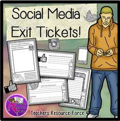 Social Media Exit Tickets - Twitter, Facebook, Texting and