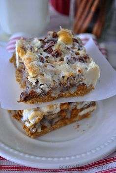 Gingerbread 7-Layer Bars on MyRecipeMagic.com