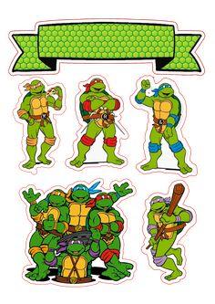 Clique na imagem e visite nosso site, lá você encontrará essa e outras imagens em alta qualidade. Ninja Turtle Party, Ninja Party, Superhero Birthday Cake, Ninja Turtle Birthday, Birthday Cakes, Ninja Turtle Cake Topper, Turtle Cakes, Ninga Turtles, Turtle Birthday Parties