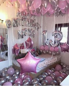 Pin by Sol✨ on Celebrate in 2019 Birthday Room Surprise, Sleepover Birthday Parties, Birthday Goals, Birthday Party For Teens, 18th Birthday Party, Diy Birthday, Birthday Ideas, Birthday Party Decorations Diy, Balloon Decorations Party