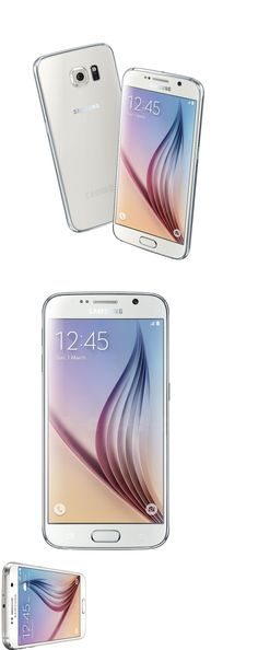 cell phones: New Samsung Galaxy S6 Sm-G920a 32Gb Atandt Unlocked White Pearl Smartphone BUY IT NOW ONLY: $369.95