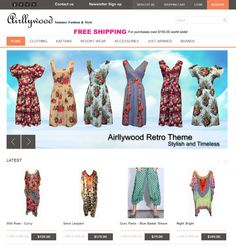 Airllywood website aim is to assist women in finding clothes with an edge maintaining the style and comfort. It also aims to offer fun and funky fashions that are a little bit different but which are also flattering and feminine. This online store carries several labels as well as designing and producing its own range of clothing based on retro styles and resort wear and is teamed with warm and comfortable cardigans for the cooler evenings.