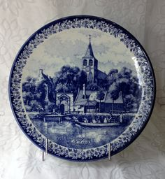 Delfts Blue/Blauw Chenkefa De Lomer/Season of Summer Plate Made in Holland Hand Painted 1960's