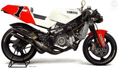 1992 YAMAHA YZR500 (OWE0)   Marlboro Yamaha Team Roberts  Acrylic on cotton cloth  39x67cm  2010年作  …続きを読む/Read more