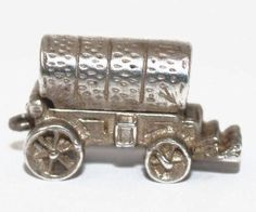 Opening Gypsy Wagon Vintage Sterling Silver Bracelet Charm Opens to Chair | eBay