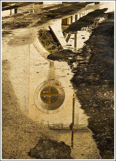 Reflection, Kullamaa church, Estonia